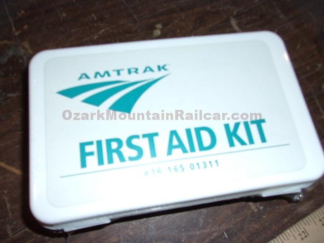 amtrak first aid kits in wrapper ozark mountain railcar